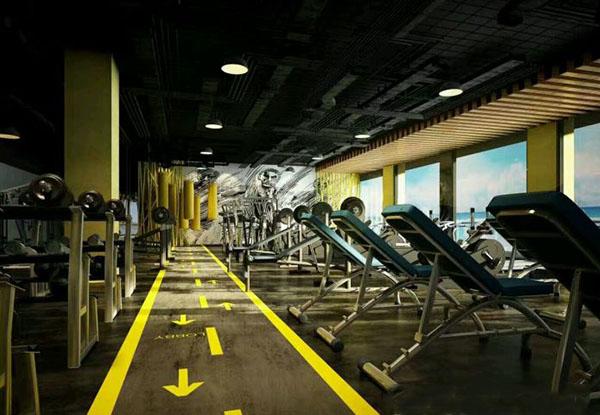 健身房仓储金属地板翻铺