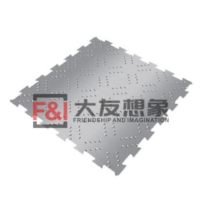金属菱形点状纹地板